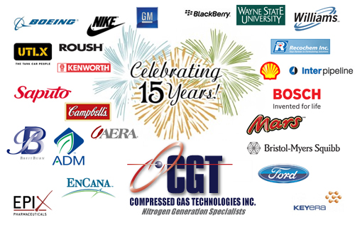 Compressed Gas Technologies Celebrates 15!
